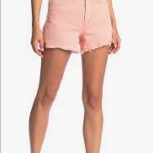 ELLA MOSS Vintage High Waist Denim Shorts Peach 32